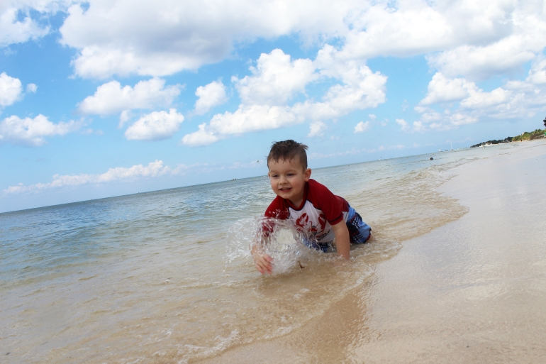 The Bright Spots: Playing by the ocean