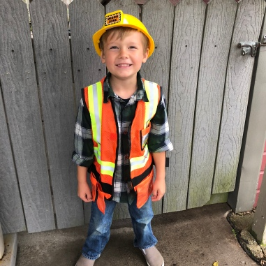 Bingham's 5th birthday with a construction party!
