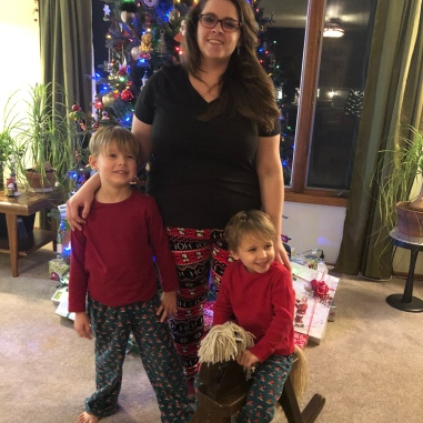 Christmas in matching jammies - it's tradition!
