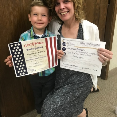 Bingham completed his 1st year of preschool with Granna Carolyn at Classical Conversations!